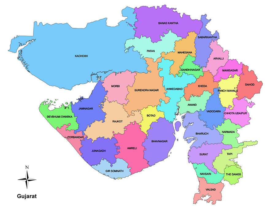 gujarat map with districts Gujarat Indian State Know Your State Upsc Diligent Ias gujarat map with districts