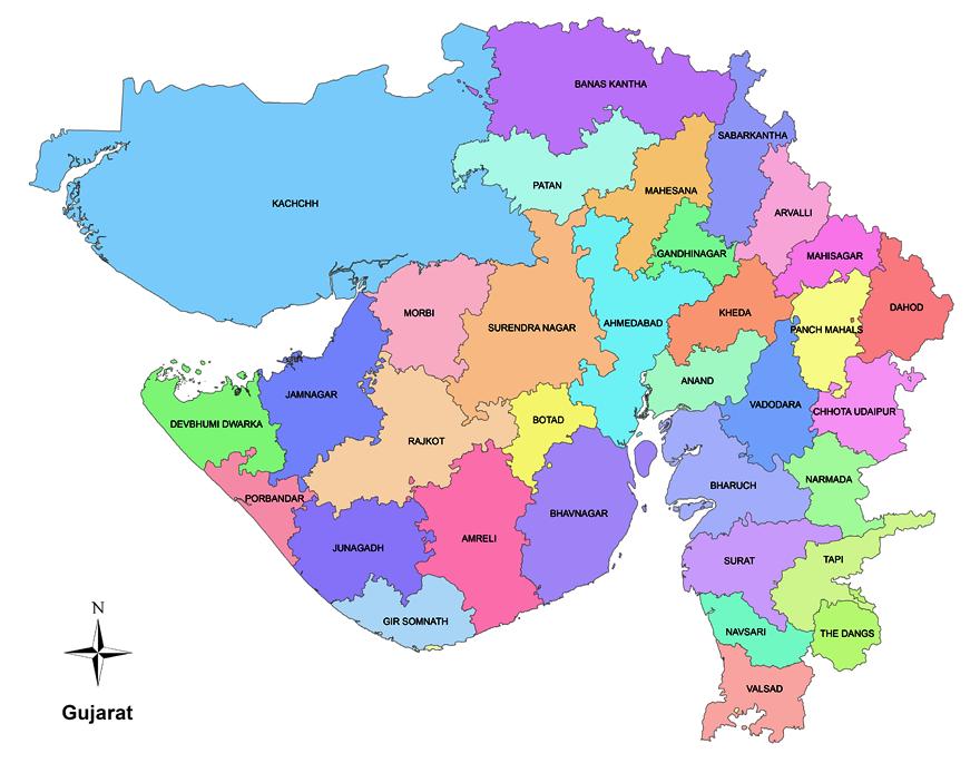 gandhinagar district map